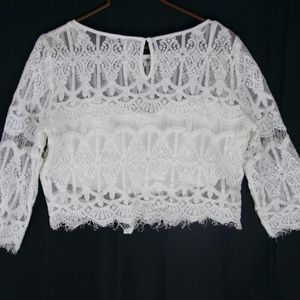 Andree Lace crop top